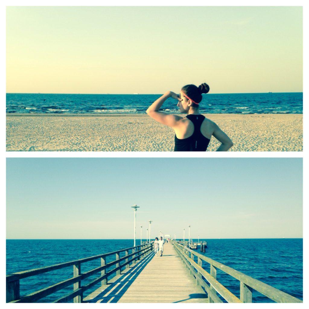 Die Ostsee genau im Blick. Kurz vor meinem Lauf am Strand.
