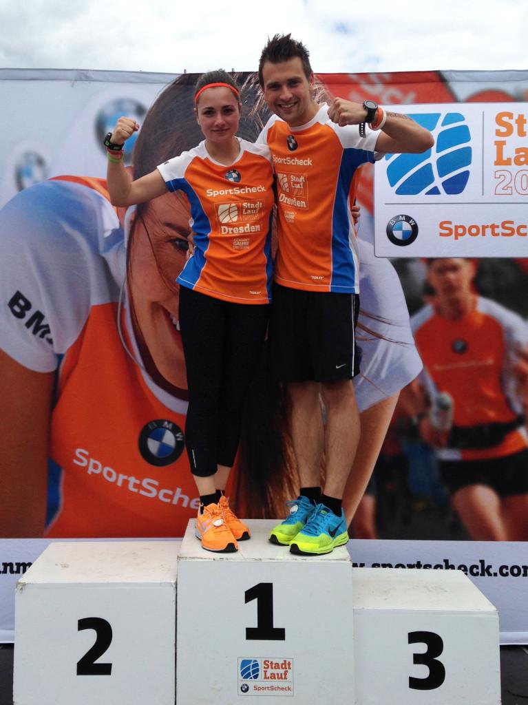 So sehen Sieger aus beim Stadtlauf in Dresden