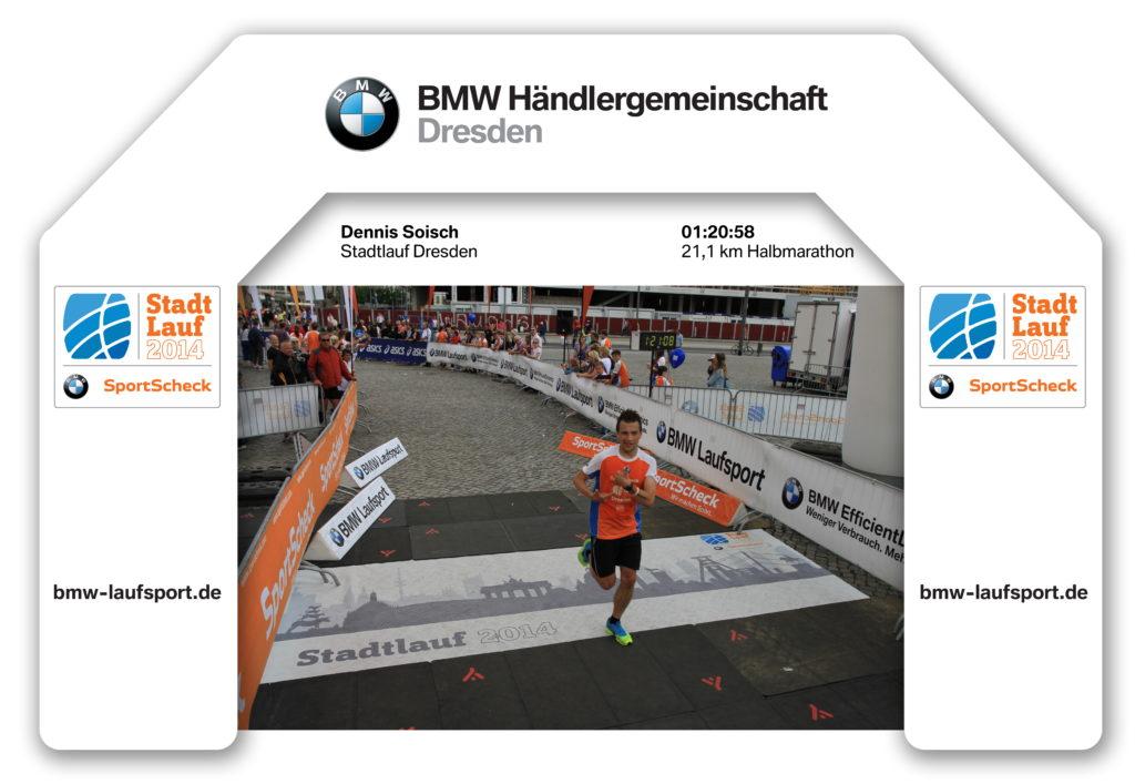 Zieleinlauf Stadtlauf Dresden