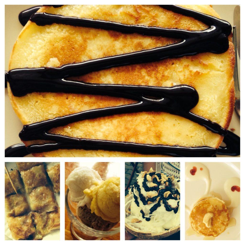 Pancake, Eis und Schokolade