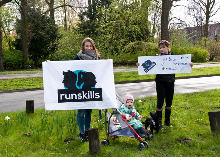 runskills Fans an der Strecke vom Haspa Marathon Hamburg