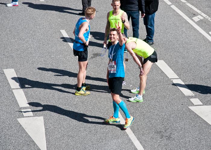 Glücklich im Ziel beim Haspa Marathon Hamburg