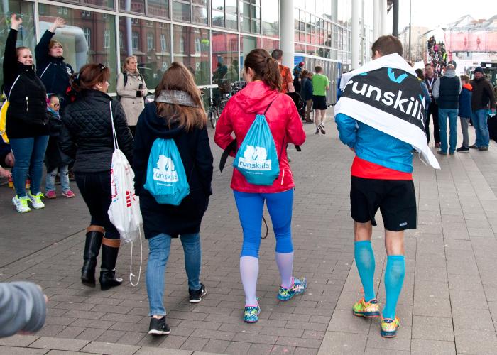 Endlich geschafft! Angekommen im Ziel des Haspa Marathon Hamburg