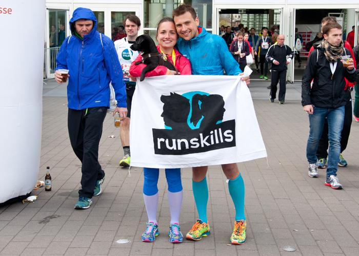 Im Ziel vom Haspa Marathon Hamburg