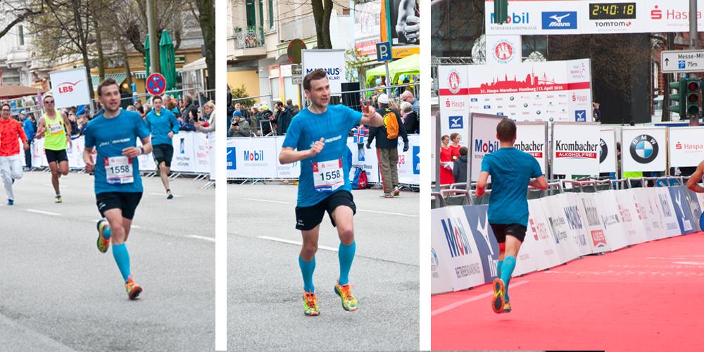 Endspurt beim Haspa Marathon Hamburg