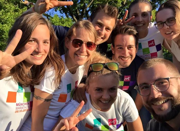 Die München Marathon Botschafter gehen beim München Marathon als Marathon-Staffel an den Start