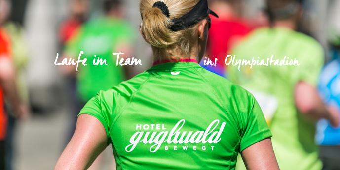 Das Hotel Guglwald ist beim München marathon mit seinem Team Guglwald bewegt am Star