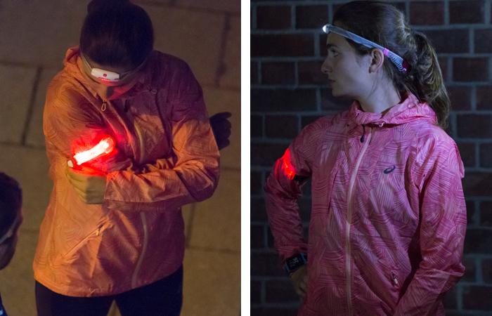 Laufen im Dunkeln: Bessere Sichtbarkeit durch das LED Armband von Nathan