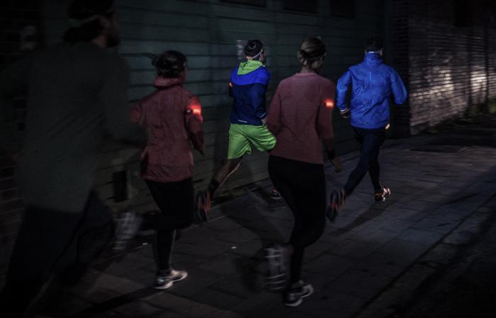 Ausrüstung für das Laufen im Dunkelln