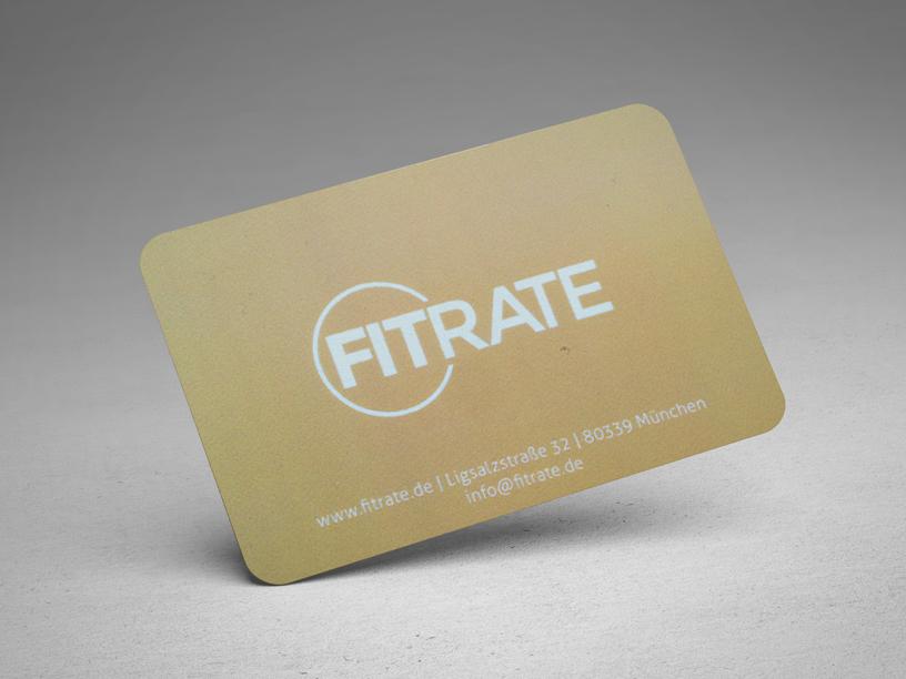 Die Gold-Member Mitgliedskarte von FITrate