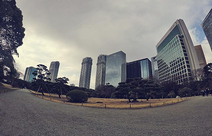 Hama-rikyu Garden in Tokyo