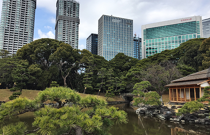 Der Hama-rikyu Garden liegt in Tokyo