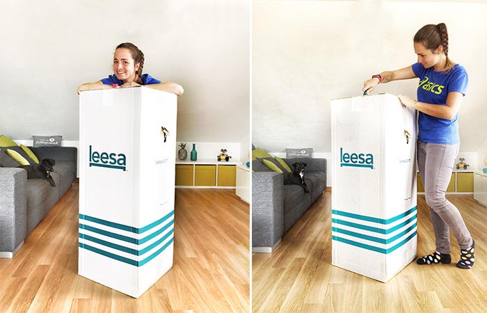 Die Leesa Matratze kommt eingerollt und komprimiert zu dir nach Hause