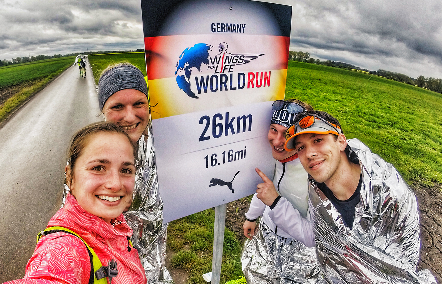 26 Kilometer beim Wings For Life World Run in München