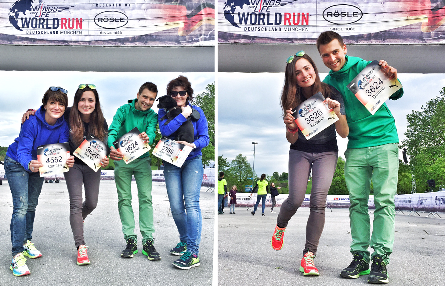 Startunterlagen beim Wings For Life World Run in München