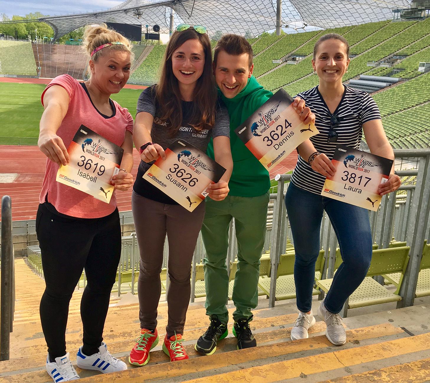 Run Munich Run und runskills beim Wings For Life World Run in München 2017 im Olympiastadion