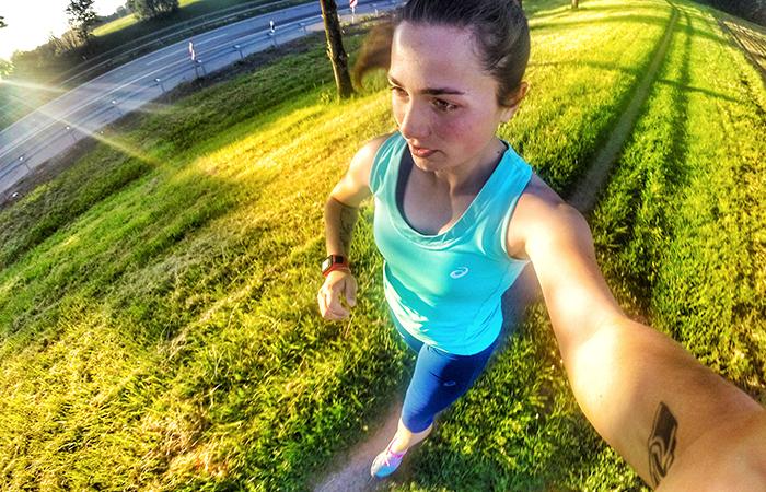 Laufen am Morgen vertreibt Kummer und Sorgen, wer am Morgen joggt startet frisch und munter in den Tag
