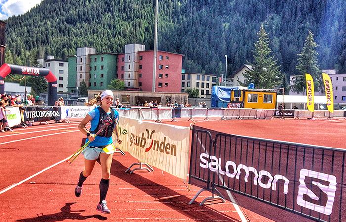Davos Swiss Alpine, Trailrunning, Zieleinlauf Trailrunning