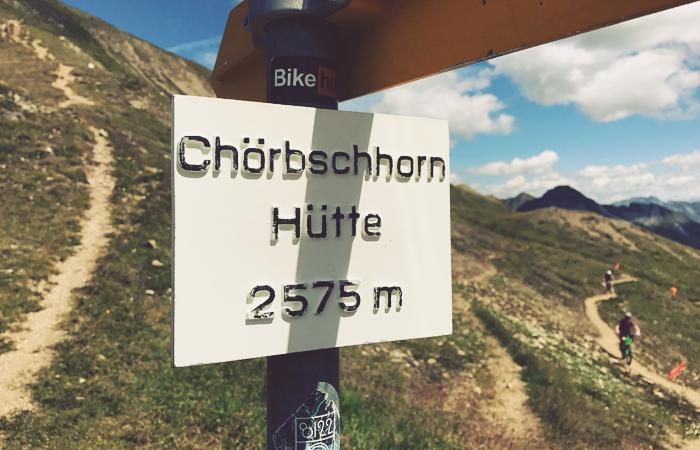Chörbschhorn auf 2575 m Höhe in der Schweiz