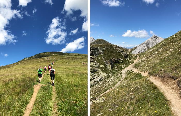 Berge, wandern, Trailrunning