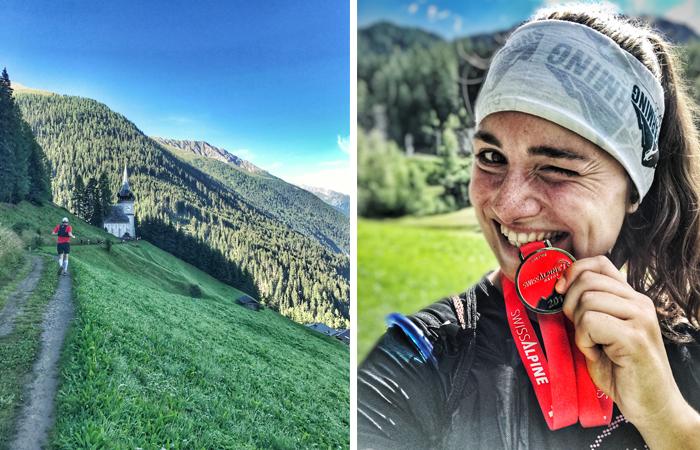 Selfie mit Medaille in Filisur Schweiz