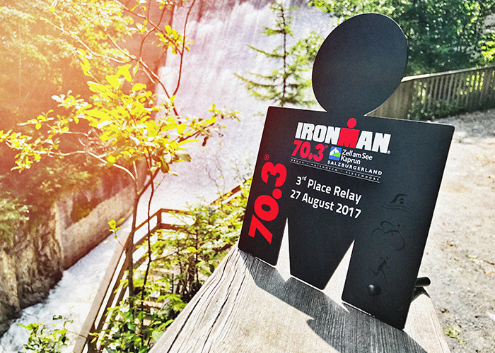 Pokal des Ironman 70.3. in Zell am See