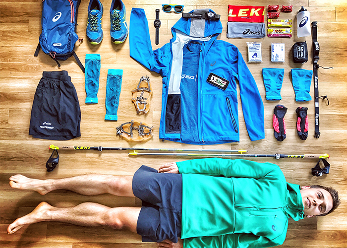 Trailrunning-Equipment beim Stubai Ultratrail