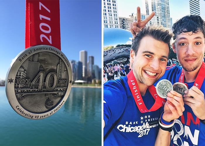 Medaille des Chicago Marathon
