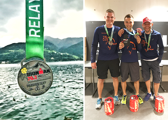 3. Platz Staffel Ironman 70.3. Zell am See