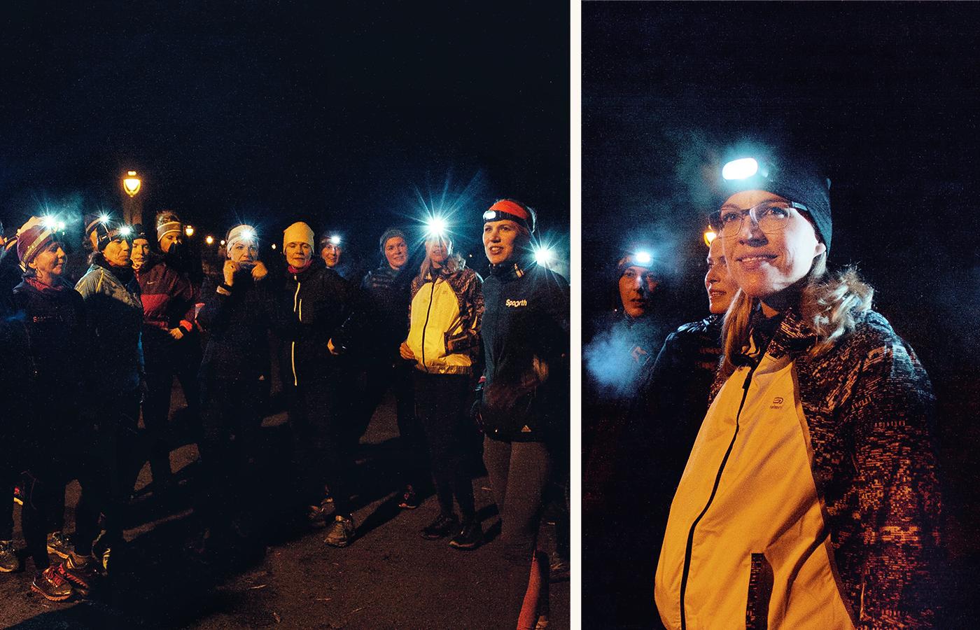 Vor allem beim Laufen im Dunkeln bieten sich Lauftreffs für Frauen an.
