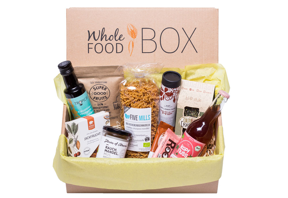 Food-Boxen, Whole food Box, vegan