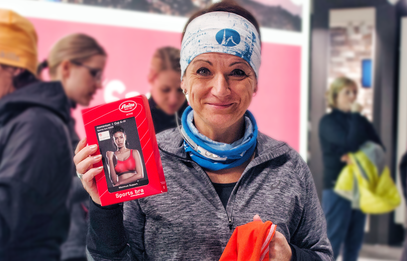 Flaue beim Lauftreff für Frauen in Chemnitz mit dem neuen Anita air control DeltaPad