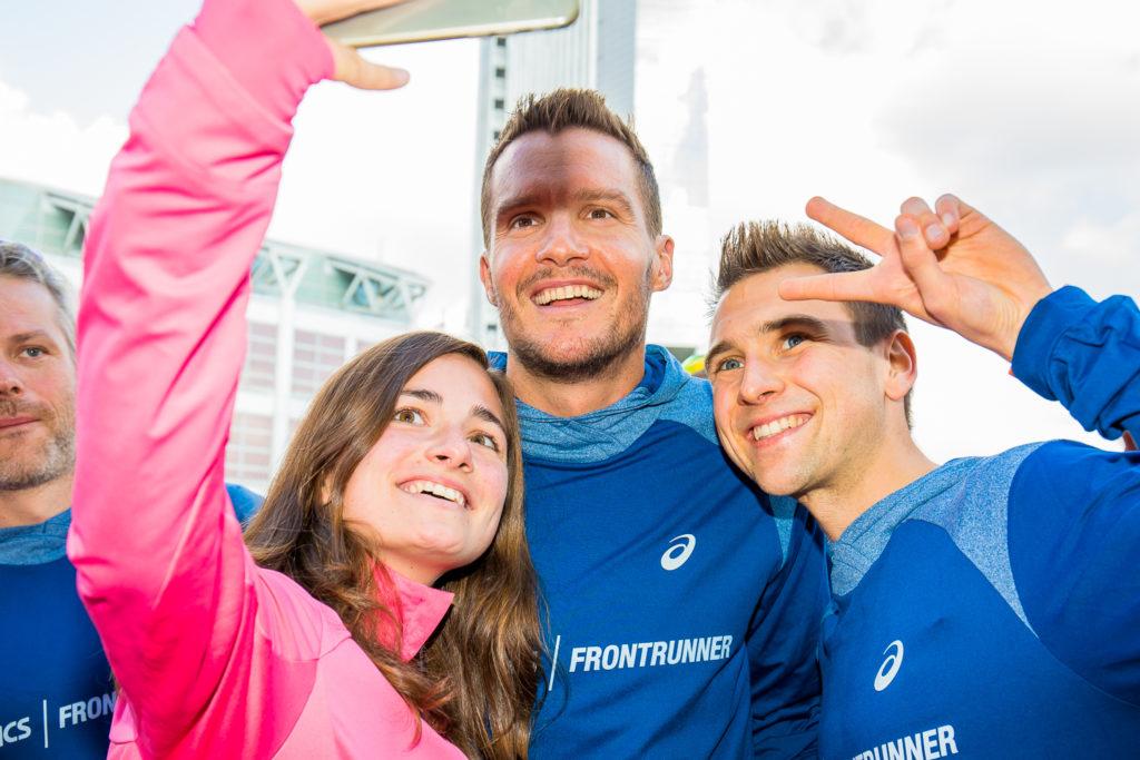 Jan Frodeno ist ASICS FrontRunner. Treffen beim Frankfurt Marathon mit ASICS FrontRunner