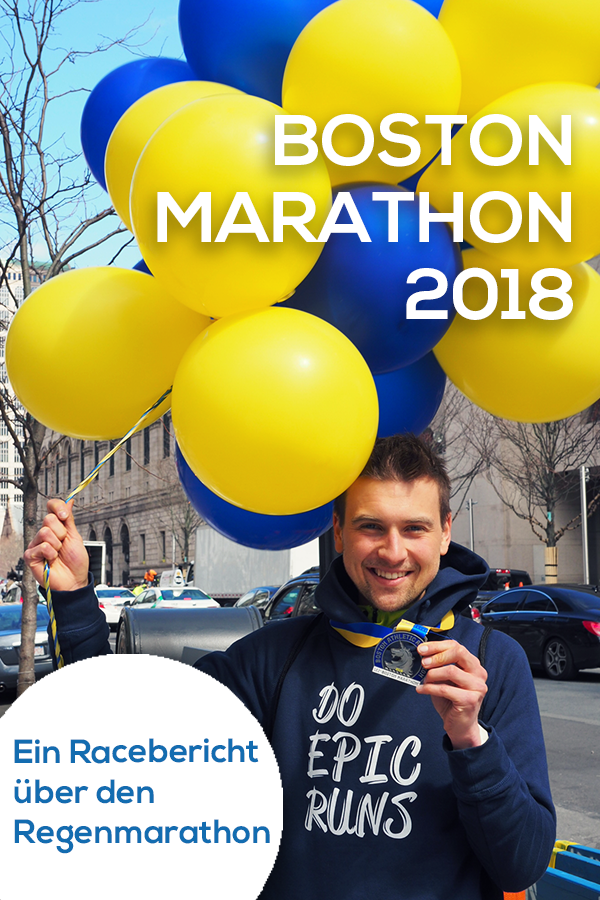 Luftballons Boston Marathon, Medaille Boston, Einhorn Medaille