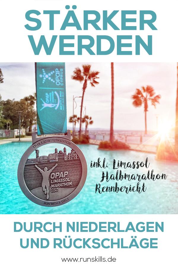 Medaille Limassol Halbmarathon 2017, Limassol Marathon, Palmen und Strand, Zypern