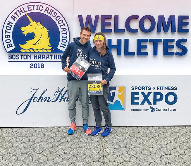 Marathon Expo Boston Marathon, Startnummer Boston Marathon, runskills, Marathonmesse