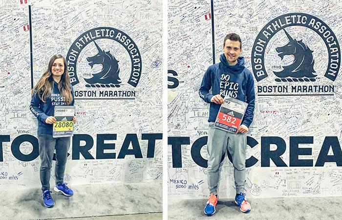 Startunterlagenabholung, Marathonmesse, Boston Marathon, Startnummer Marathon