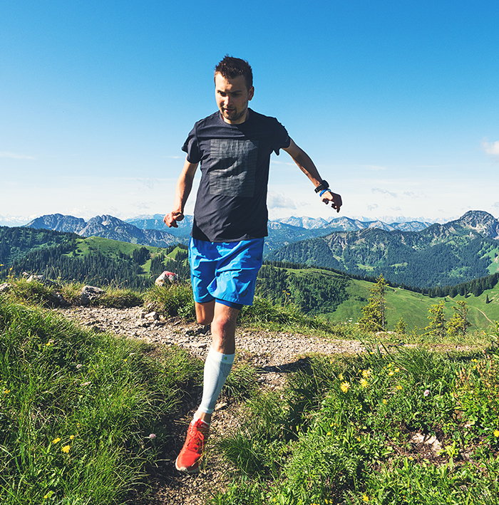 Trailrunning, Brecherspitz am Spitzingsee, Kompressionsstrümpfe Bauerfeind, Kompressionssocken, Compression Sleeves, Trails, Berge, Wandern