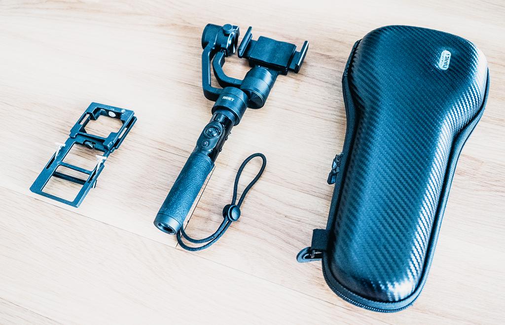 Gimbal von Dobot Rigiet, Bildstabilisator, Action Kamera und Tasche