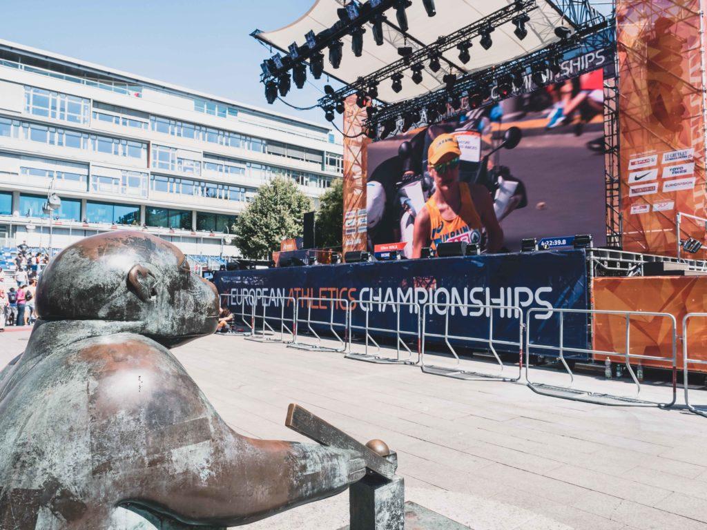 Leichtathletik Europameisterschaften 2018, Berlin 2018, Bühne, Sarah Wiener, Starköchin