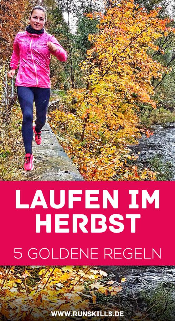 Laufen im Herbst, Herbstlauf, Joggen bei Kälte, Sport im Herbst