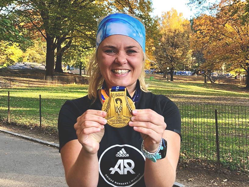 Isabell Groß von runmunichrunn, Laufblogger, runningblogger, New York City Marathon, Medaille, Isa Trice, München Blogger