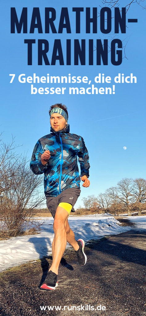 Marathon laufen, Marathontraining, Lauftipps, Marathontipps, Trainingstipps, Mann läuft Marathon, Geheimnisse Marathon